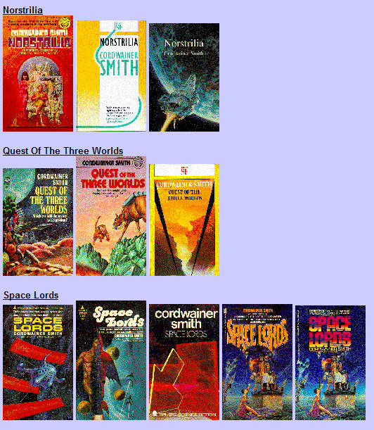 Cordwainer Smith science fiction book covers